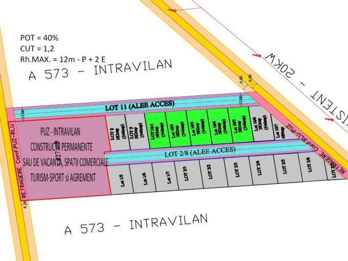 Teren Corbu Intravilan Loturi 582mp