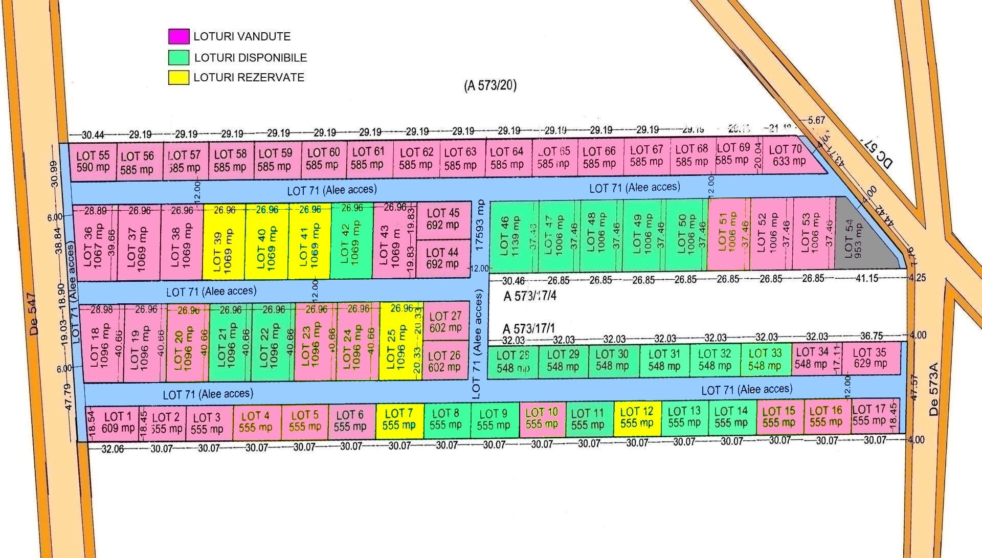 Terenuri Corbu Intravilan 550mp – 1.065mp